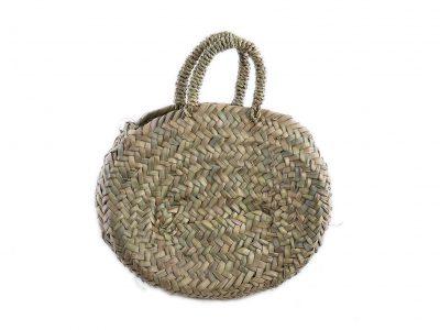 Borsa in paglia di palma nana ovale piccola