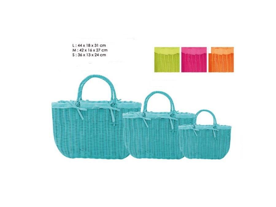 Borse Di Moda In Plastica : Set borse in plastica con chiusura di paglia