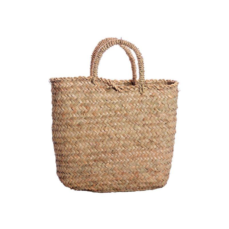 borsa in paglia di palma quadrata