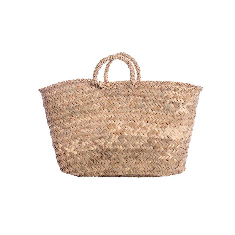 borsa in paglia di palma nana