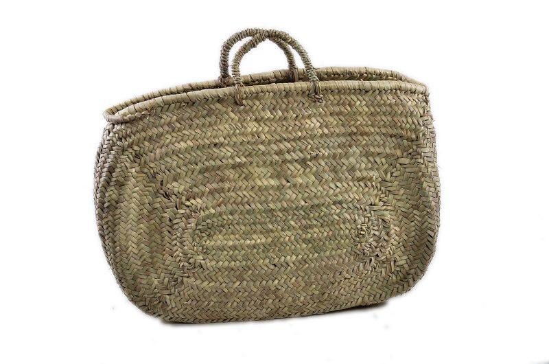 Borsa in paglia di palma nana di foggia ovale, adatta per il mare, la piscina ed il pic nic.