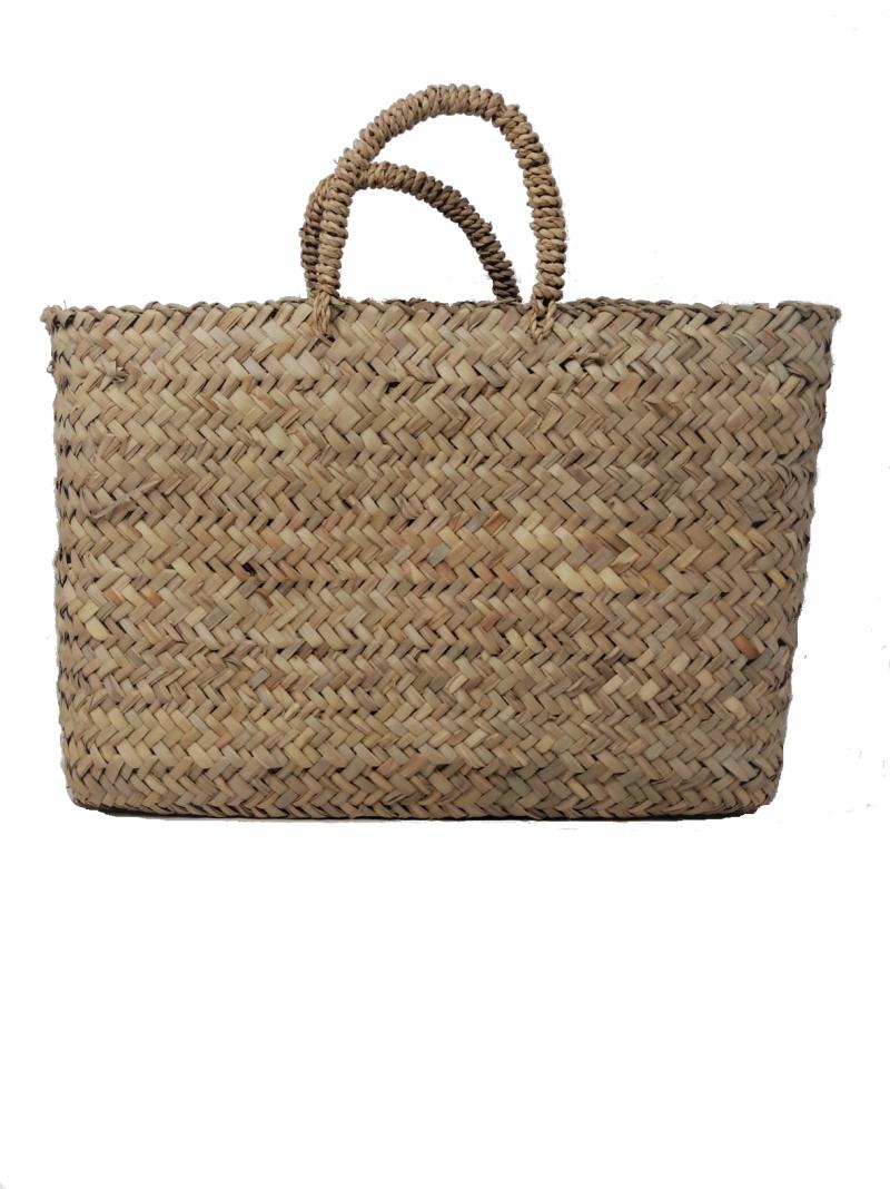 Coffa in paglia di palma nana modello shopper