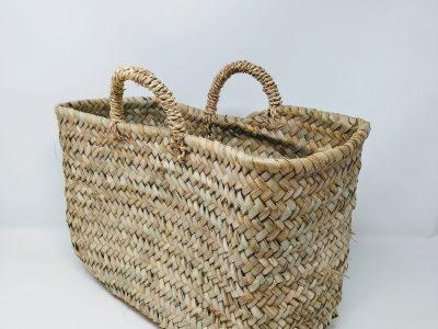 borsa in paglia di palma nana rettangolare