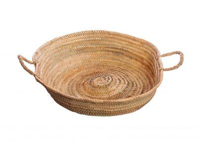 Piatto in paglia di palma con manici